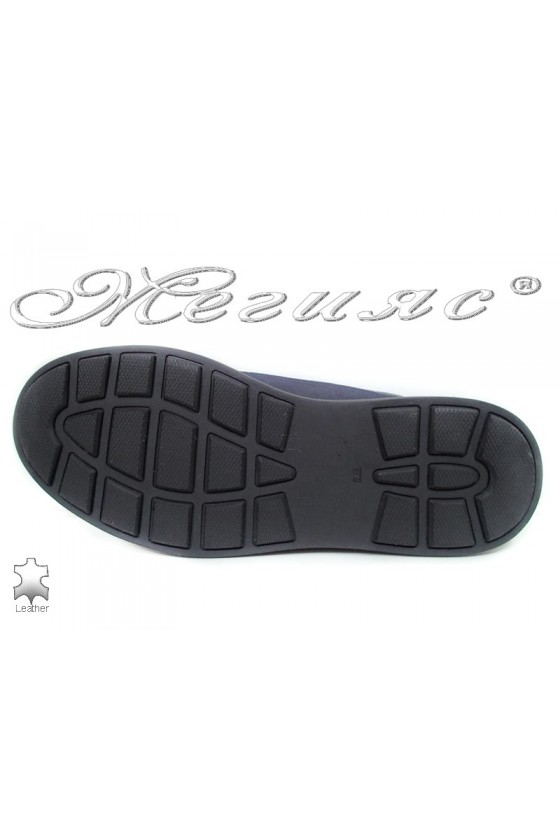 Men's shoes 110 dark blue leather