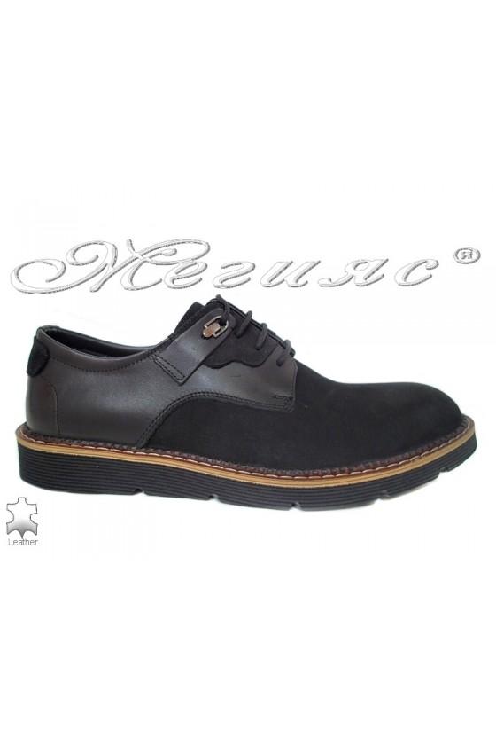 Men's shoes  526 black suede leather