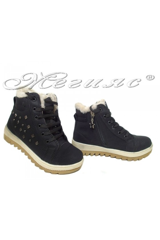 Child sport boots 083 black pu