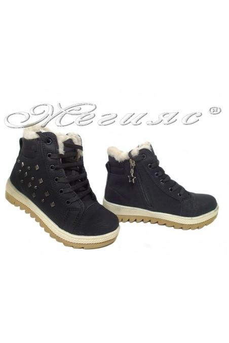 Child sport boots 083 black pu