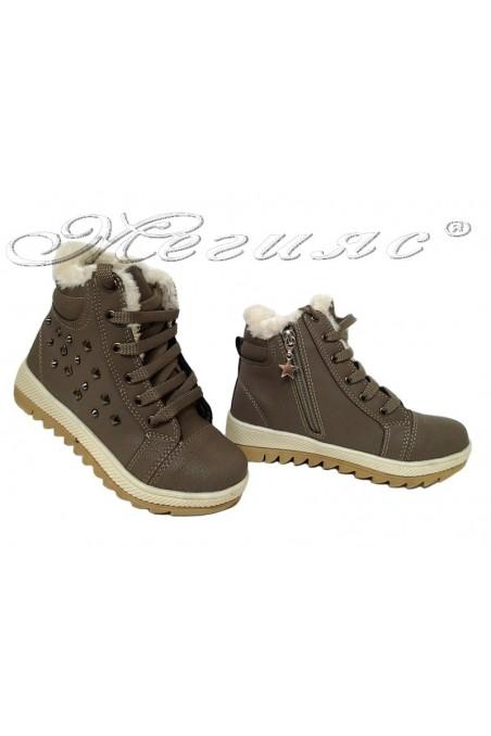 Child sport boots 083 beige pu