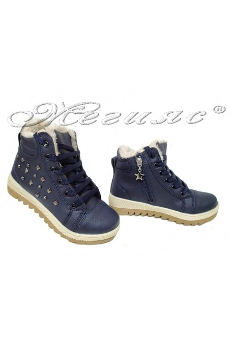 Child sport boots 083 dark blue pu