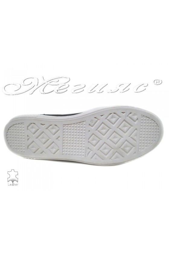 Men's sport boots 0051 blue suede leather