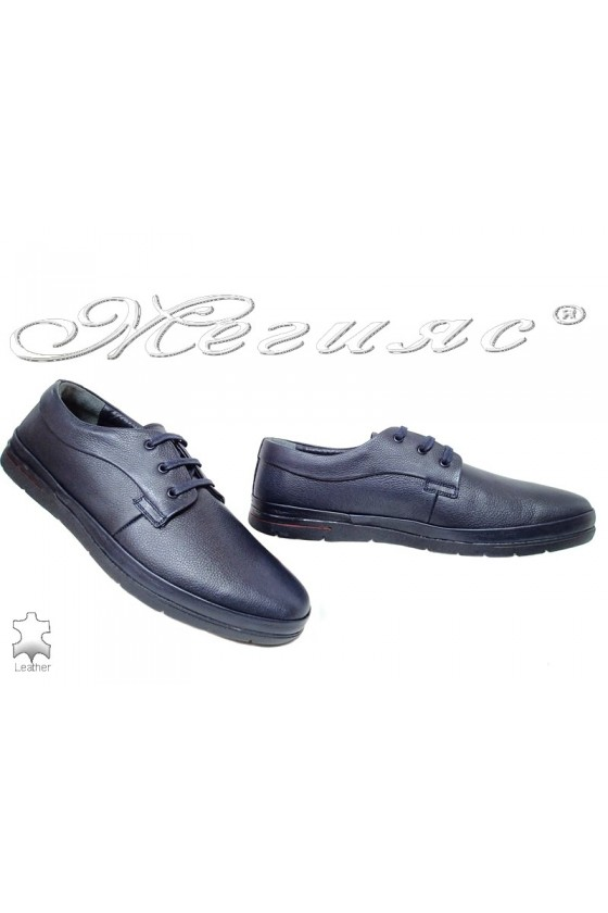 Men's shoes XXL 011 blue leather
