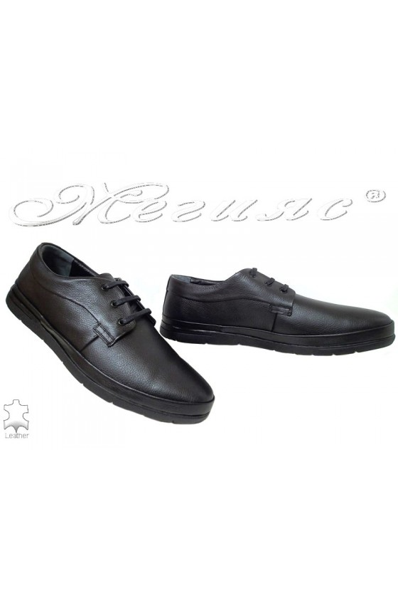 Men's shoes XXL 011 black leather