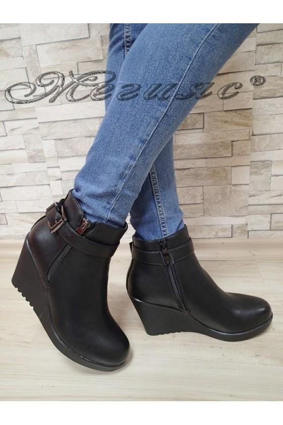 Lady boots AMY 20W17-280  black pu