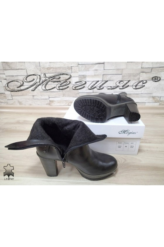 Lady boots 13315 black leather