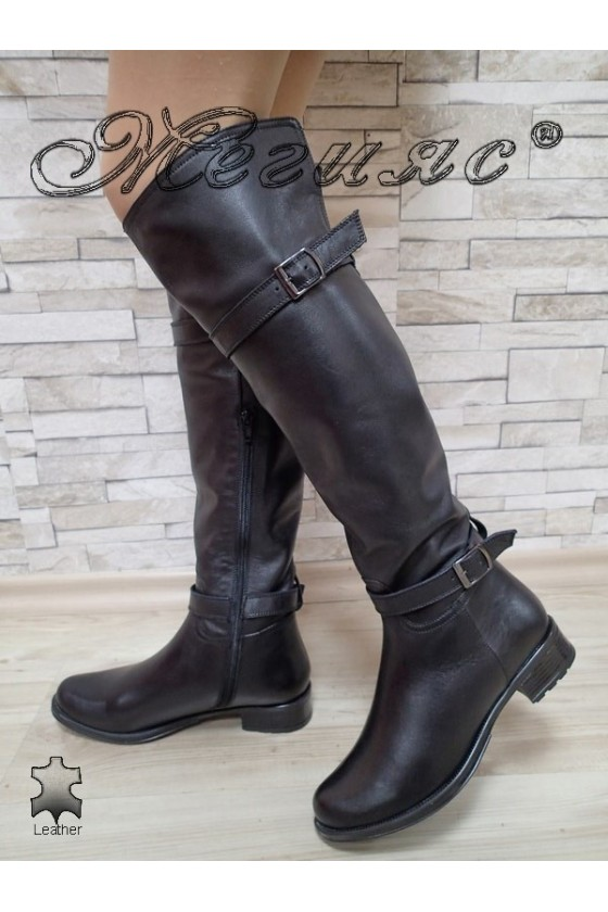 Lady boots 10405 black leather