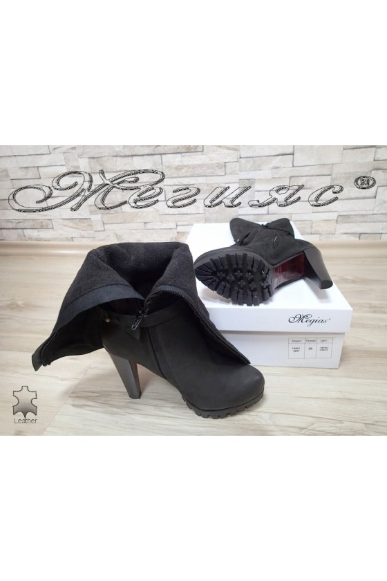 Lady boots 16403  black leather