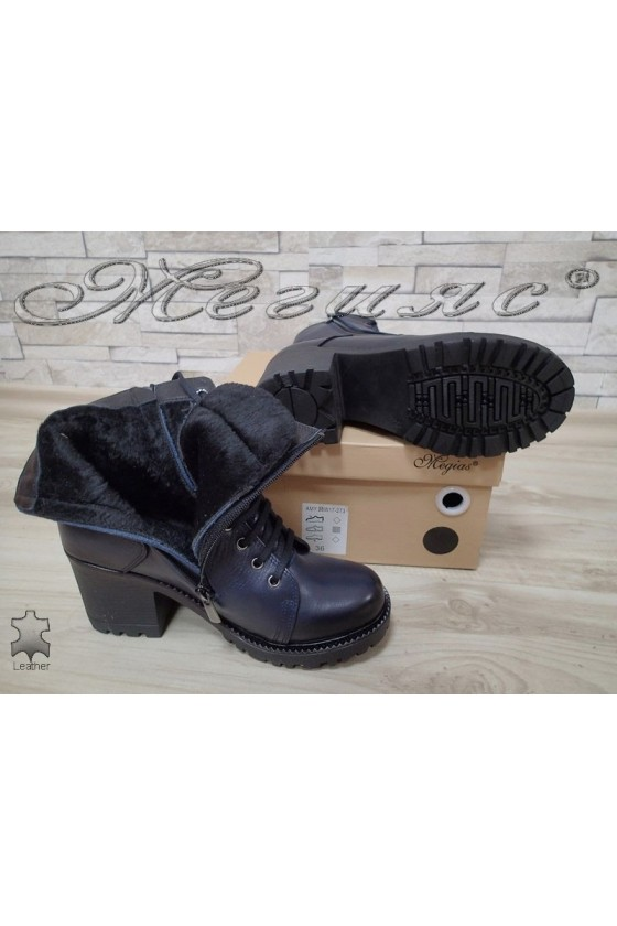 Lady boots 590 blue leather