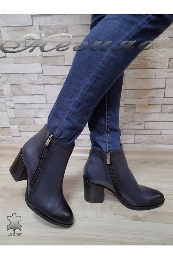 Lady boots 710 dark blue leather