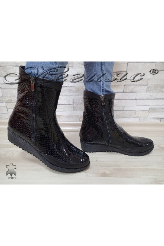 Lady boots XXL 015-03-115 black leather