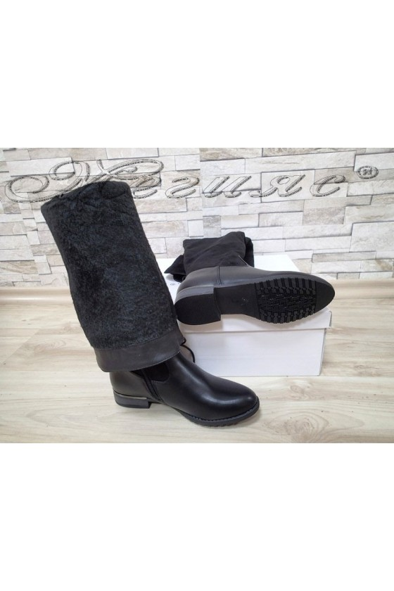 Lady boots Cassie 20W17-59  black suede