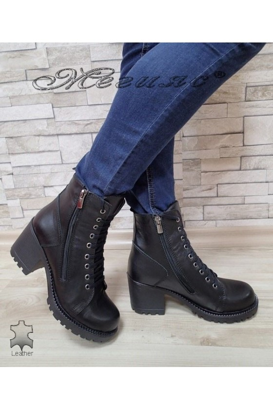 Lady boots 590 black leather