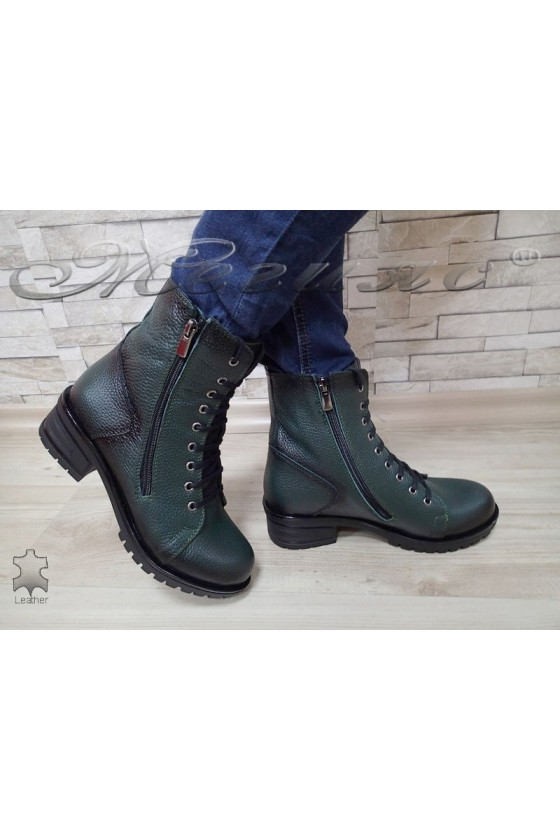 Lady boots 705 green leather