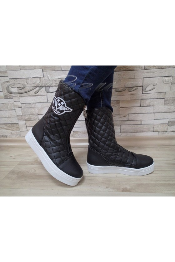 Lady sport boots 200 black pu