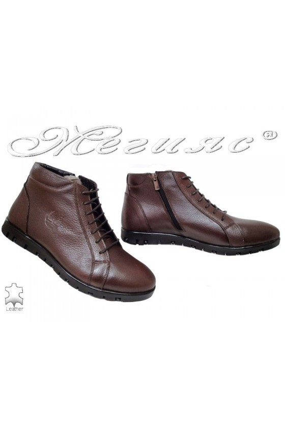 Men's boots 303 brown leather