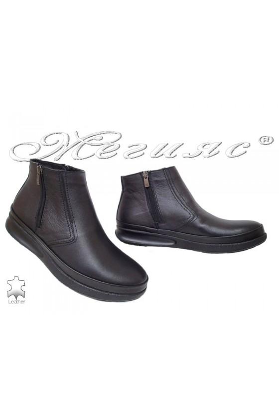 Men's boots  071-80 black leather