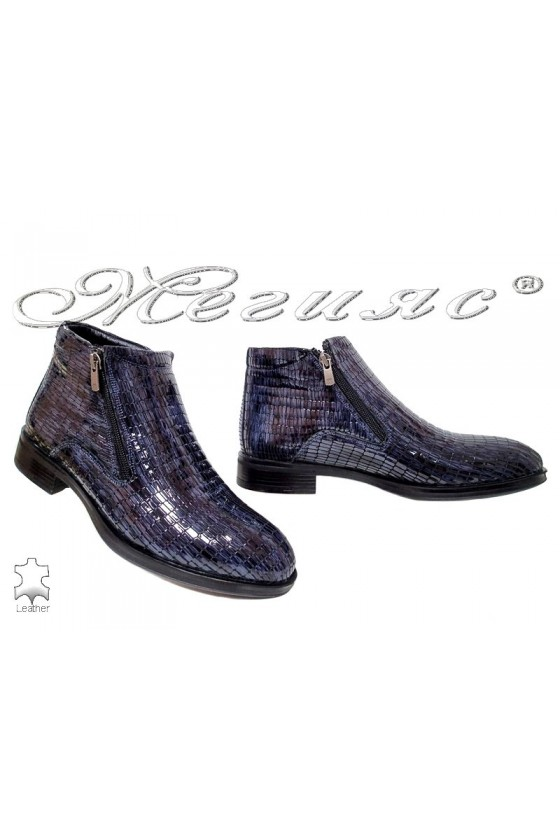 Мъжки боти Беладжио 163170-741 сини от естествена кожа
