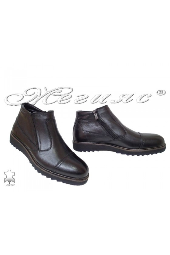 Men's boots 750-080 black leather
