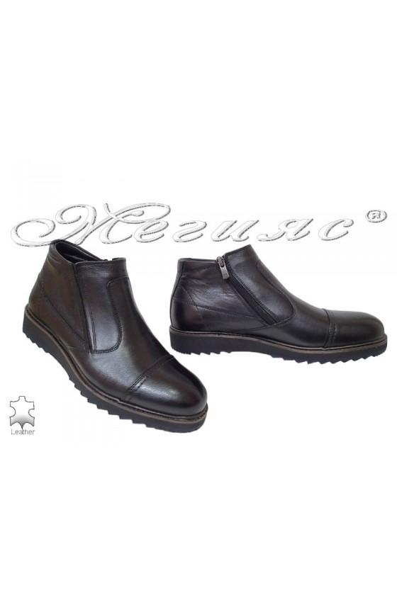Men's boots  750-080 black leather