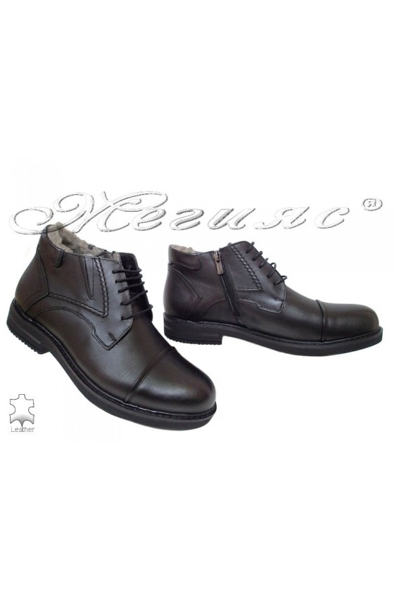 Men's boots 02 black leather