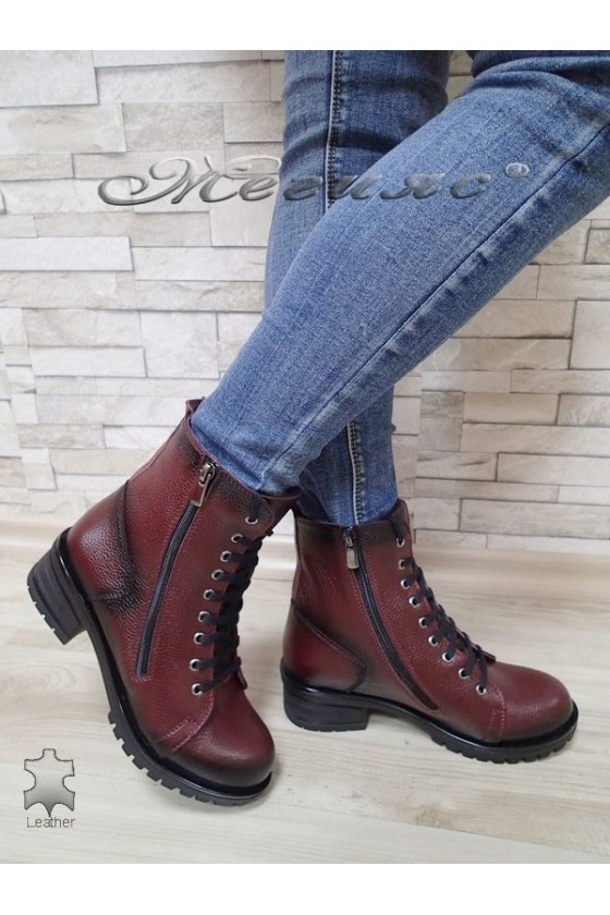 Women boots 705 wine leather