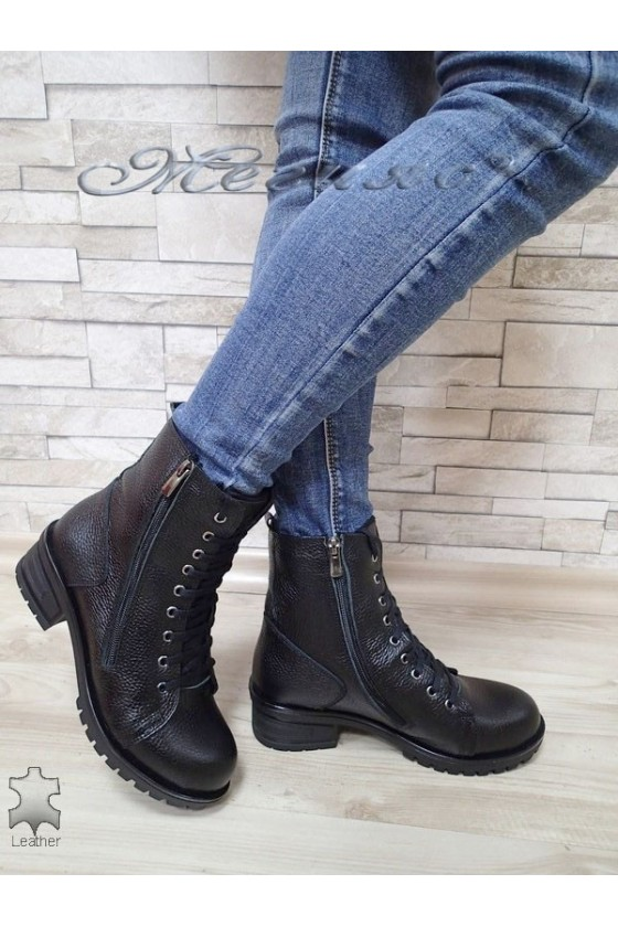 Women boots 705 black leather