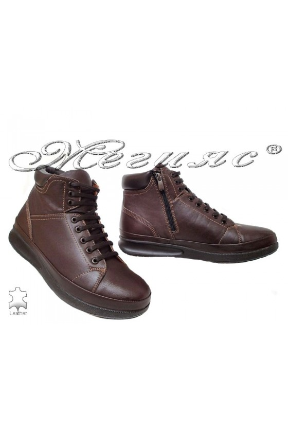Men's boots  072-82 brown leather