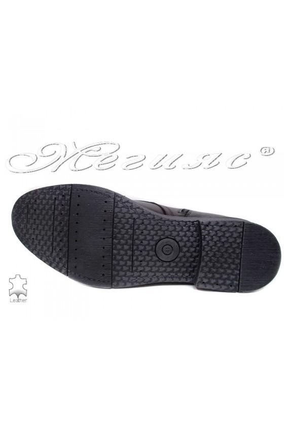 Men's boots 17204 black leather