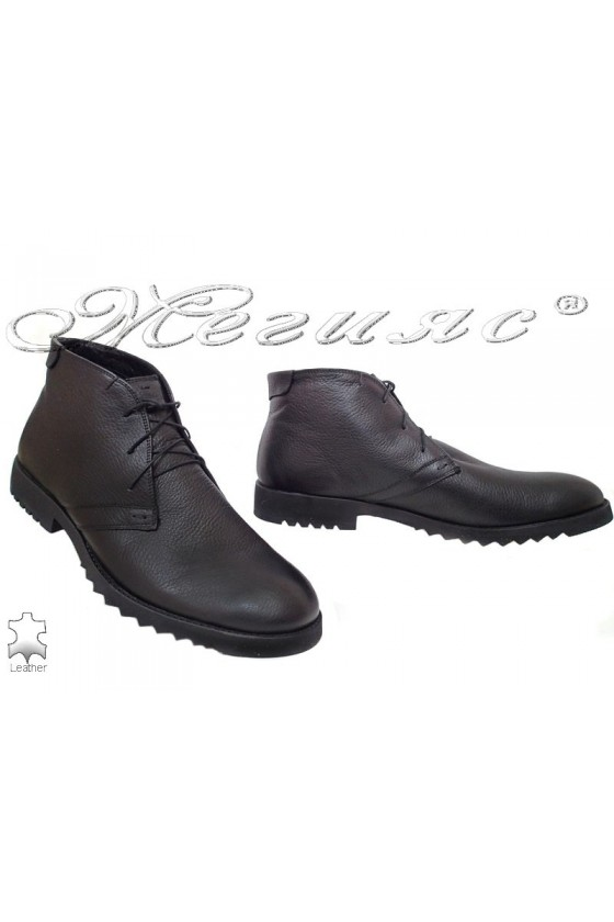 Men's boots XXL 404 black leather