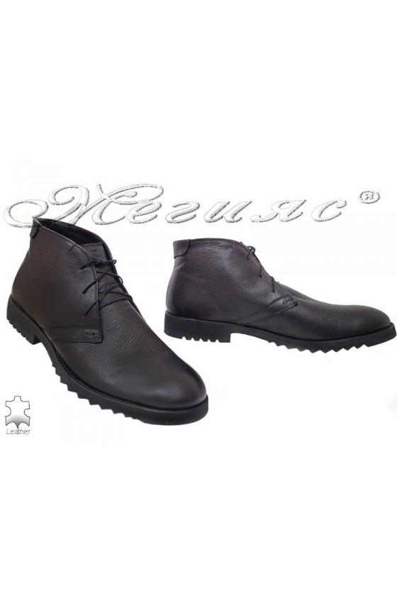Men's boots  XXL 404 black leather
