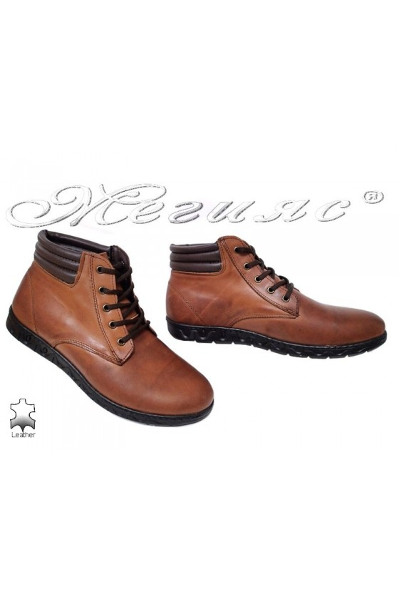 Men's boots  309 brown leather