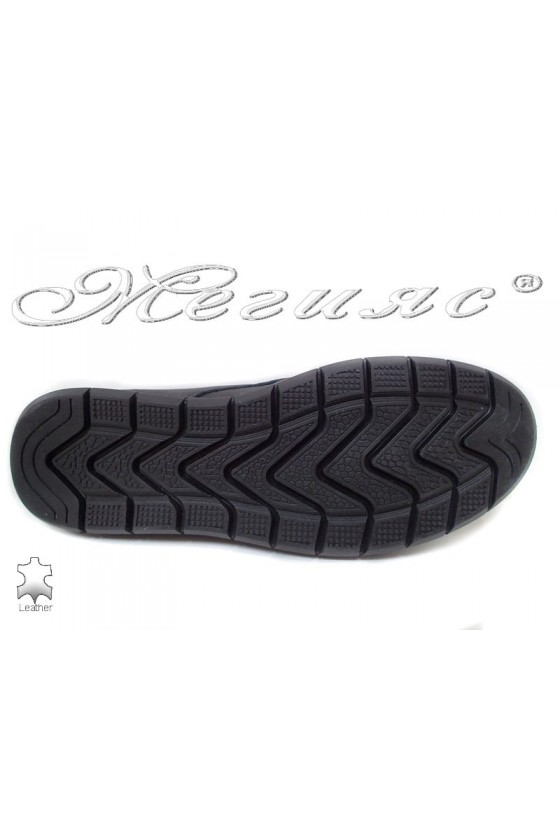 Men's boots  309 black leather
