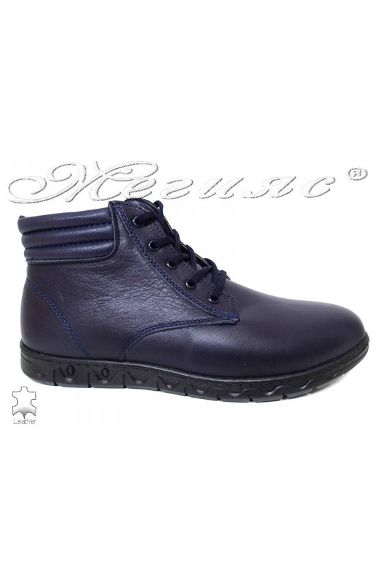 Men's boots  309 blue leather