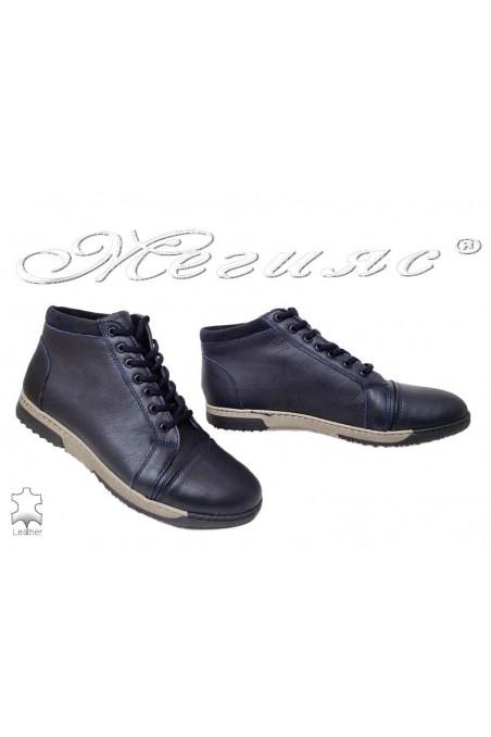 Men's boots  310 blue leather