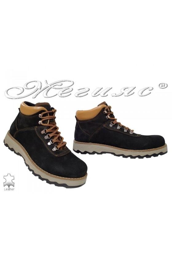 Men's boots 10/510 black leather