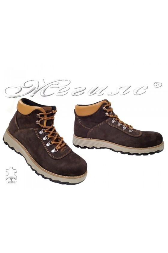 Men's boots 10/510 brown leather