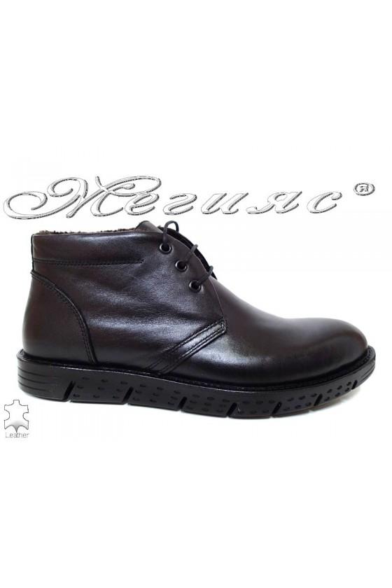 Men's boots  03 black leather