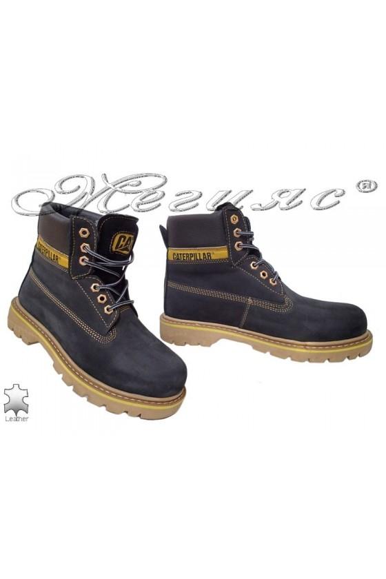 Men's boots 04 CAT black leather