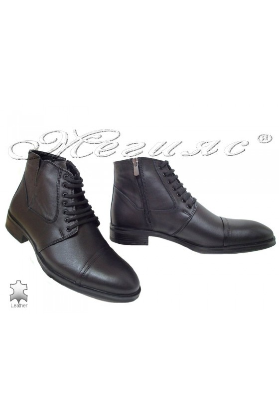Men's boots  17106 black leather