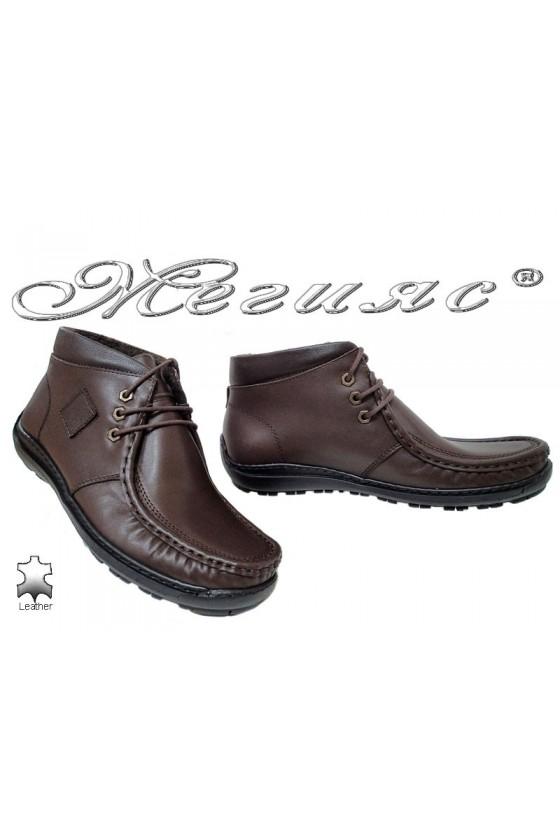 Men boots 700 dark brown leather