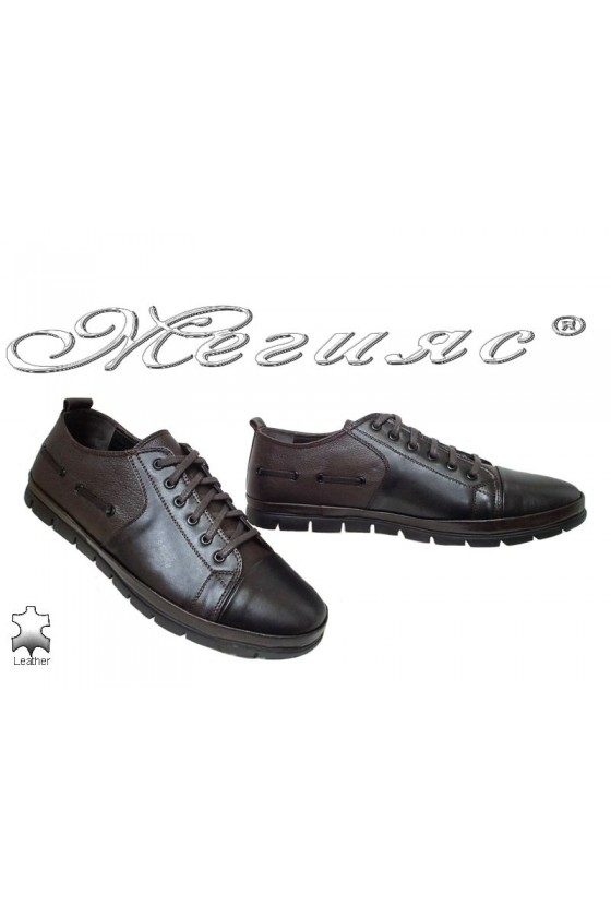 Men's shoes XXL 495 black / brown leather