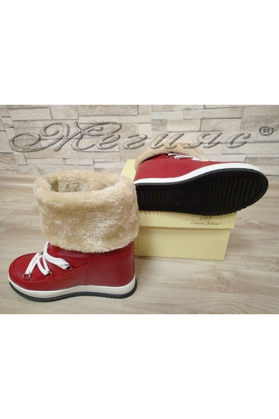 Lady boots 4000 red pu