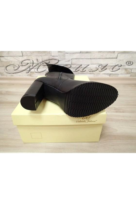 Women elegant boots 115 black pu