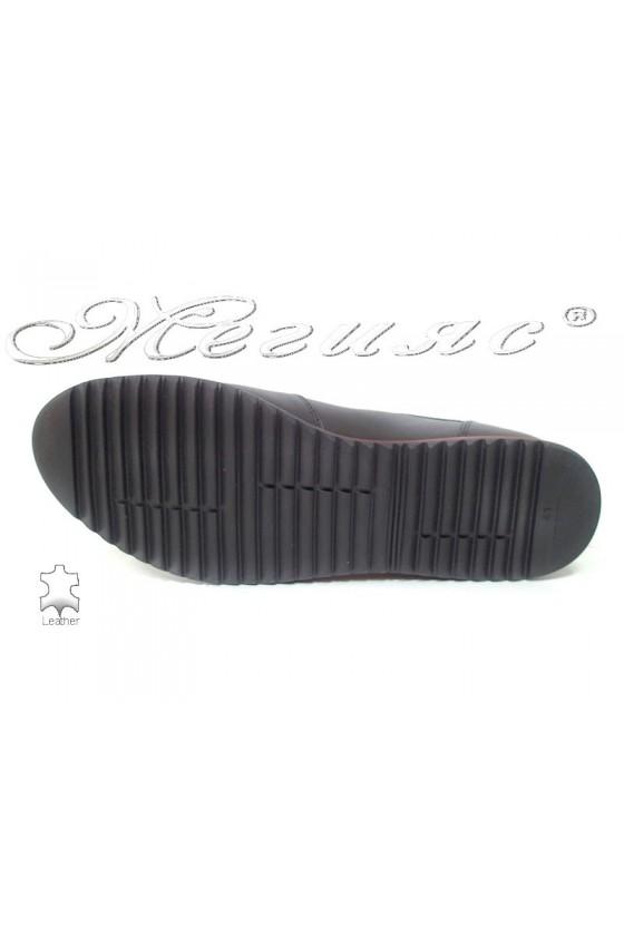 Men's shoes 5002 black/grey leather