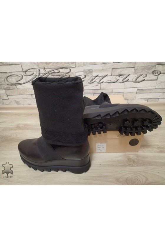 Lady boots 2088 black leather