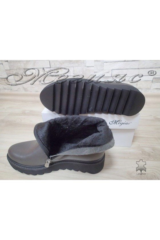 Lady boots 300 grey  leather
