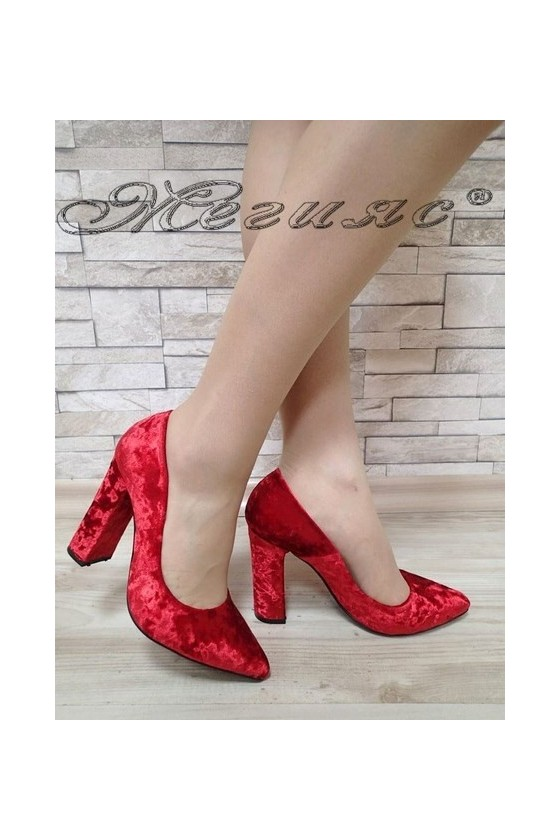 Lady elegant shoes 542 red