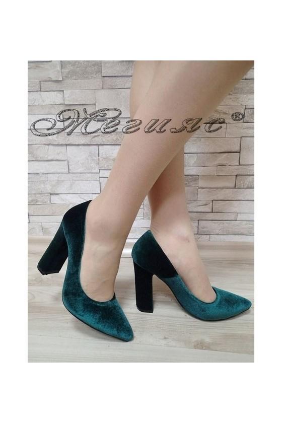 Lady elegant shoes 542 green